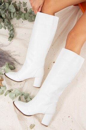 Fox Shoes Beyaz Kadın Çizme J610082009