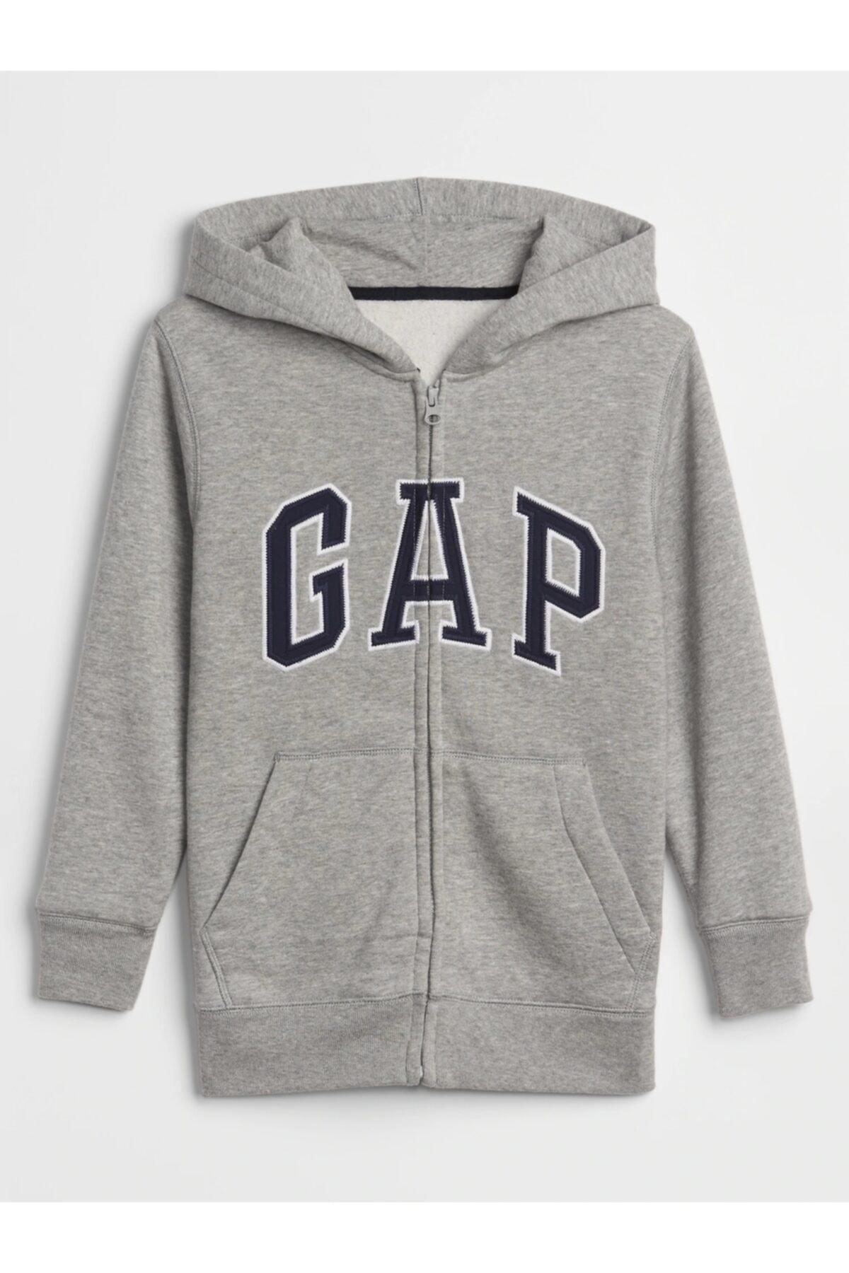 GAP Kids Logo Kapüşonlu Sweatshirt 1