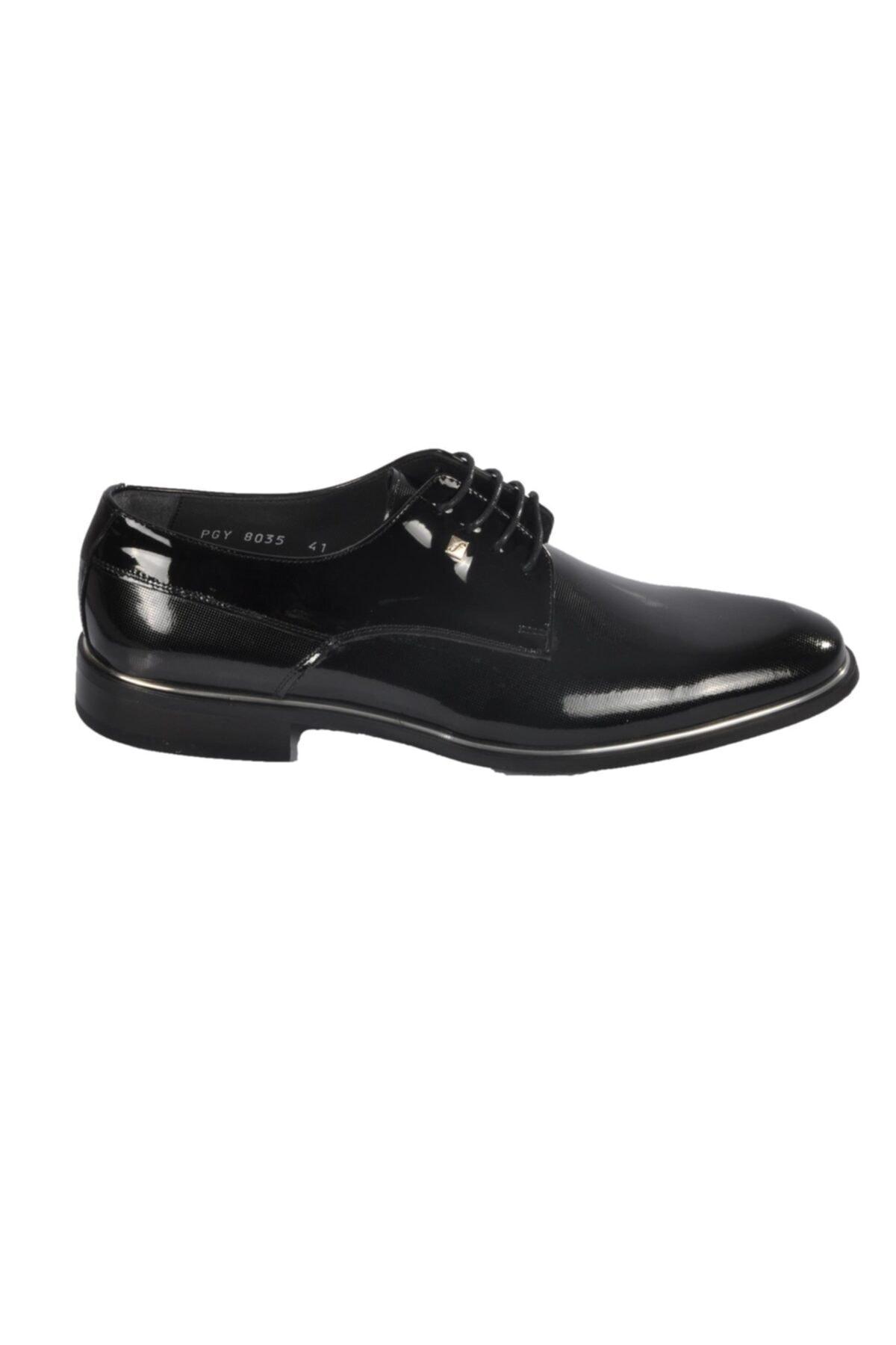 Fosco Rugan Siyah Erkek Hakiki Deri Klasik Ayakkabı 2