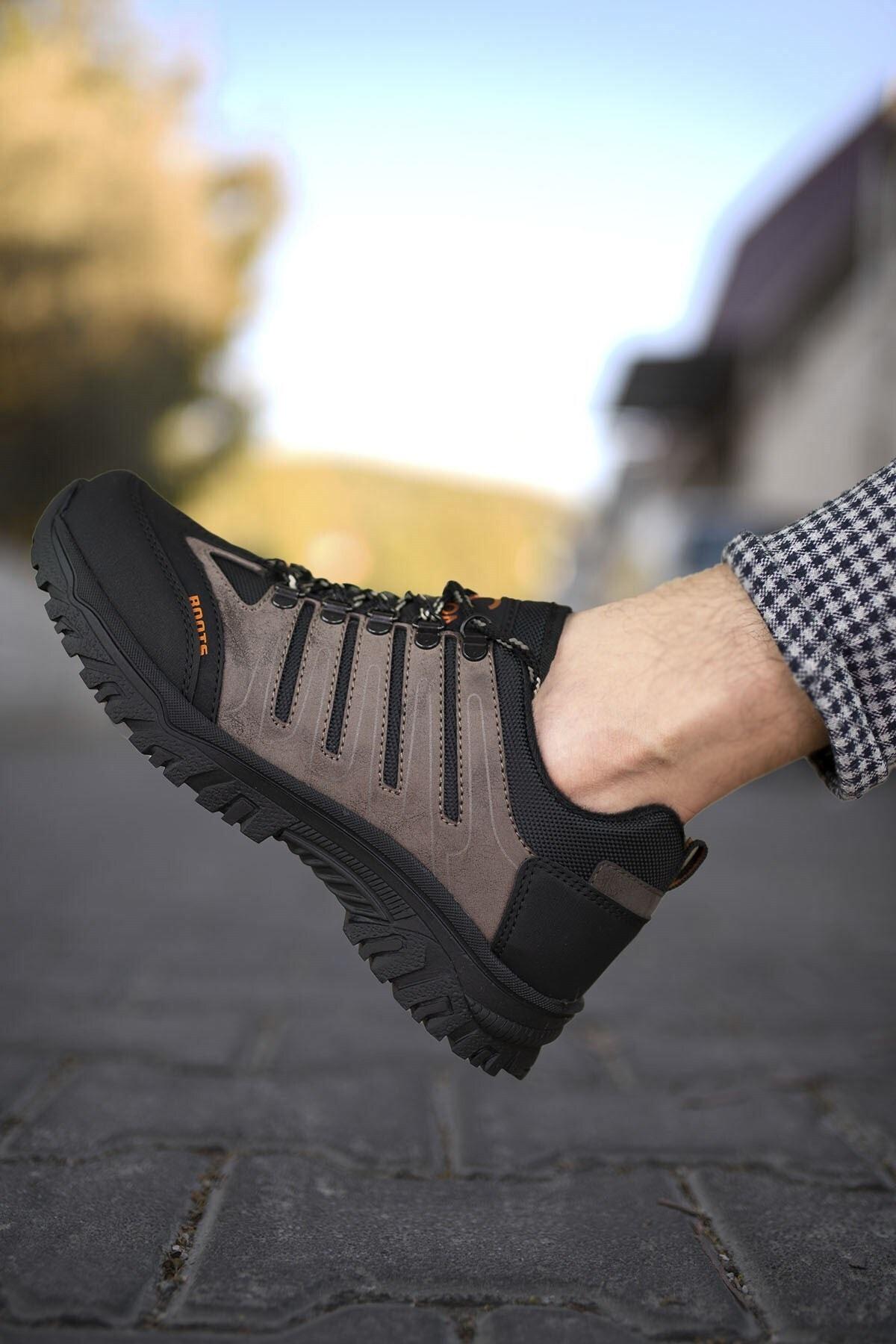Riccon Kahverengi Siyah Erkek Trekking Ayakkabı 0012115 1