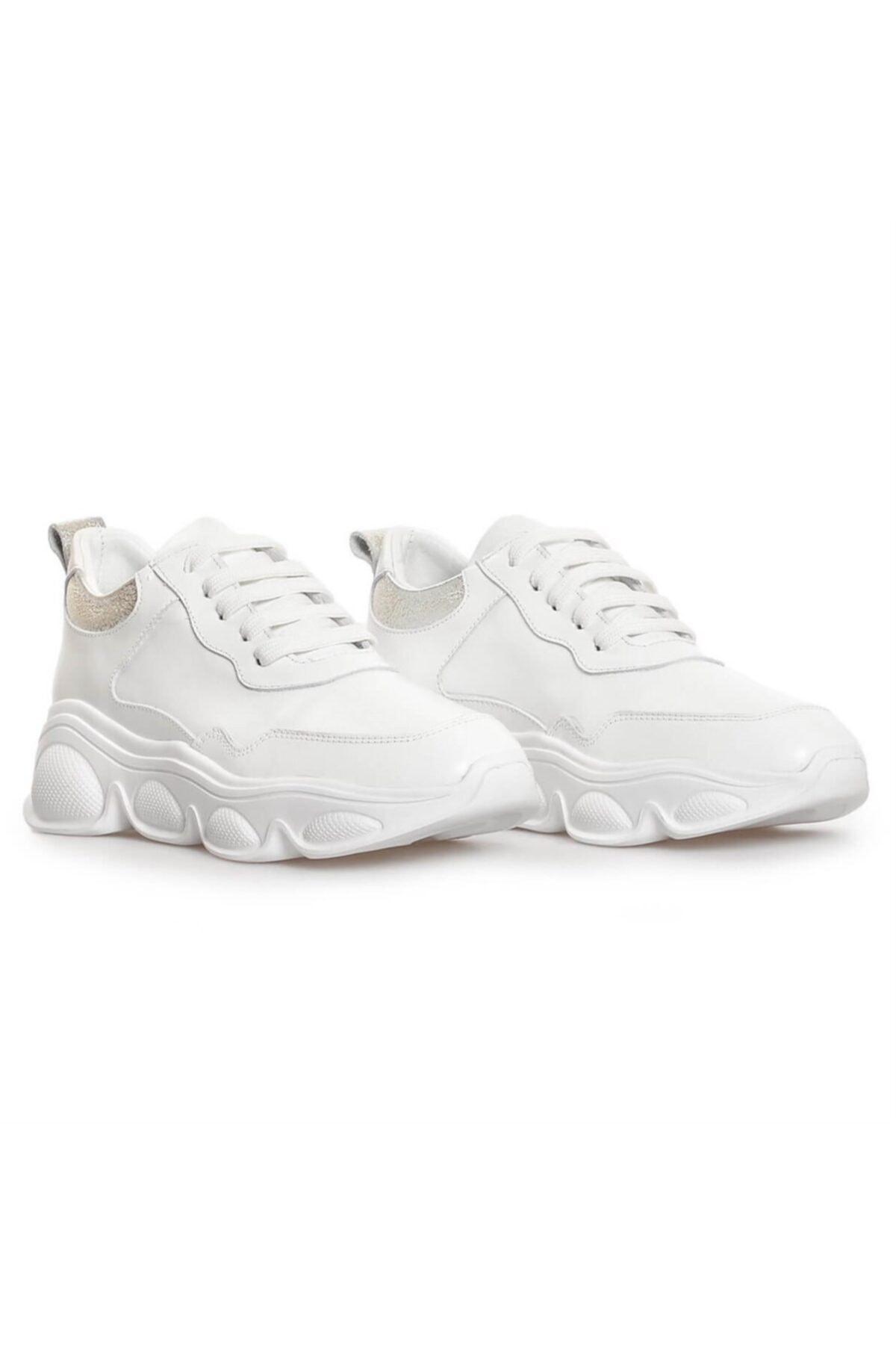Flower Beyaz Kombin Kadın Sneakers 2