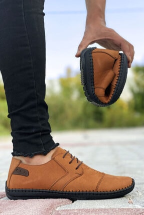 BIG KING Hakiki Deri Taba Çarık Model Erkek Ayakkabı