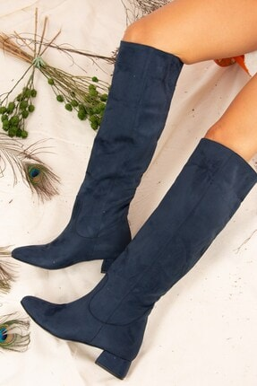 Fox Shoes Lacivert Kadın Çizme J922931402