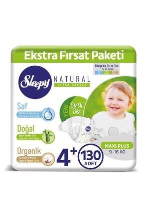 Sleepy Natural Bebek Bezi 4+ Numara Maxi Plus 130 Adet