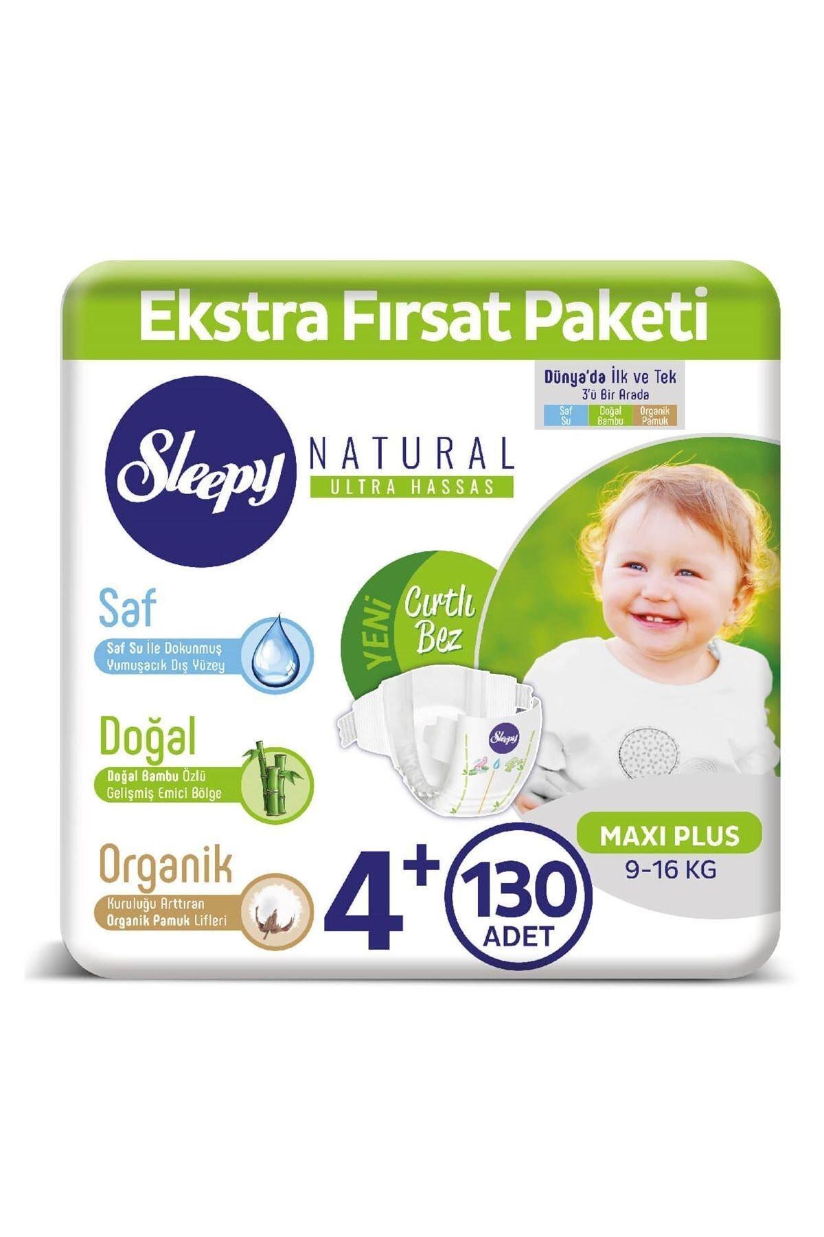 Sleepy Natural Bebek Bezi 4+ Numara Maxi Plus 130 Adet 1