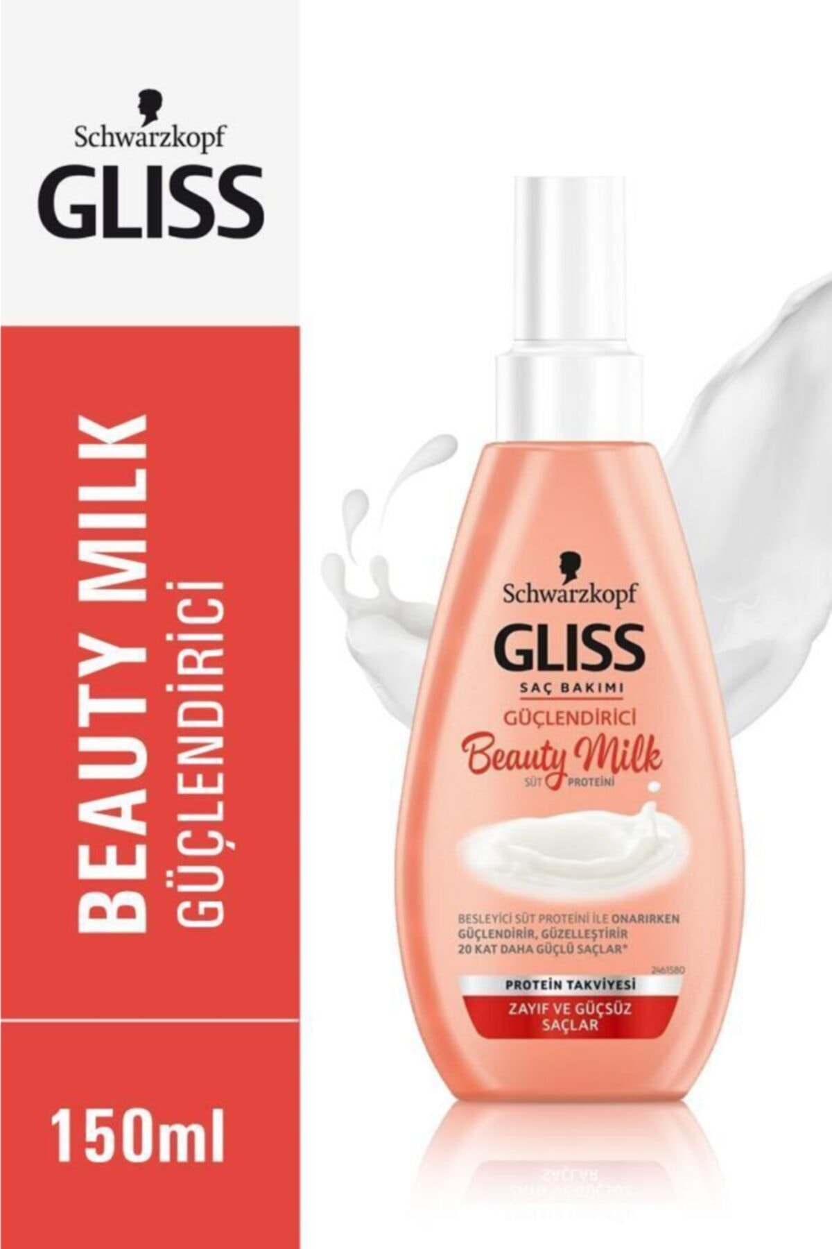 Gliss Schwarzkopf Gliss Beauty Milk-Güçlendirici Bakim Sütü 150 Ml 1