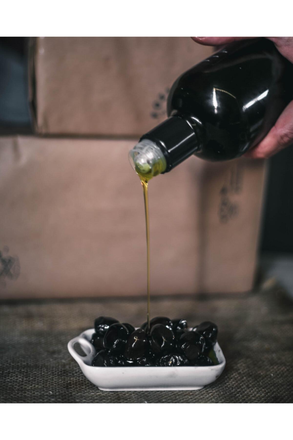 Foze Taş Baskı Doğal Yağlı Sele Siyah Salamura Zeytin 1400 gr 2