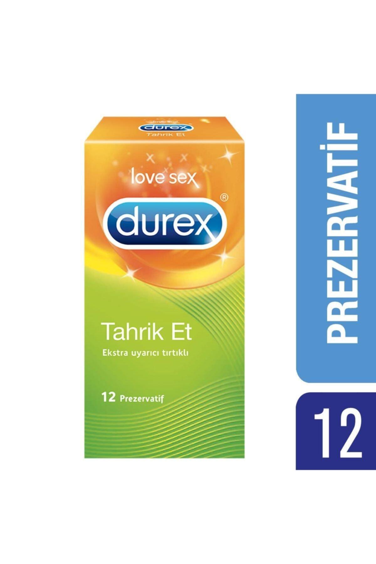 Durex Tahrik Et Tırtıklı Prezervatif, 12'li 1