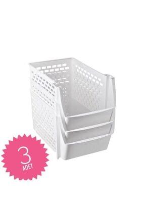 Yellowish 3 Adet Çok Amaçlı Katlı Organizer Mutfak Tezgah Altı Düzenleyici Buzdolabı Sepeti