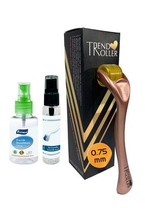 Trendroller Dermaroller 0.75 mm Titanyum 540 İğne Orijinal Saç Yüz Derma Roller 6902540752521