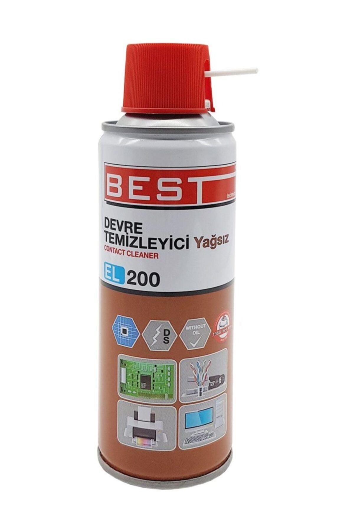 Best El200 Contact Cleaner 200 ml Yağsız Devre Temizleyici Sprey 1
