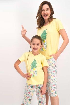 Arnetta Anne Kız Kombin Sarı Pijama Takım 1205 (anne Ve Kız Fiyatları Farklıdır-ayrı Ayrı Alınır)