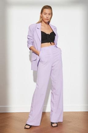 TRENDYOLMİLLA Lila Wide Leg Pantolon TWOSS21PL0357