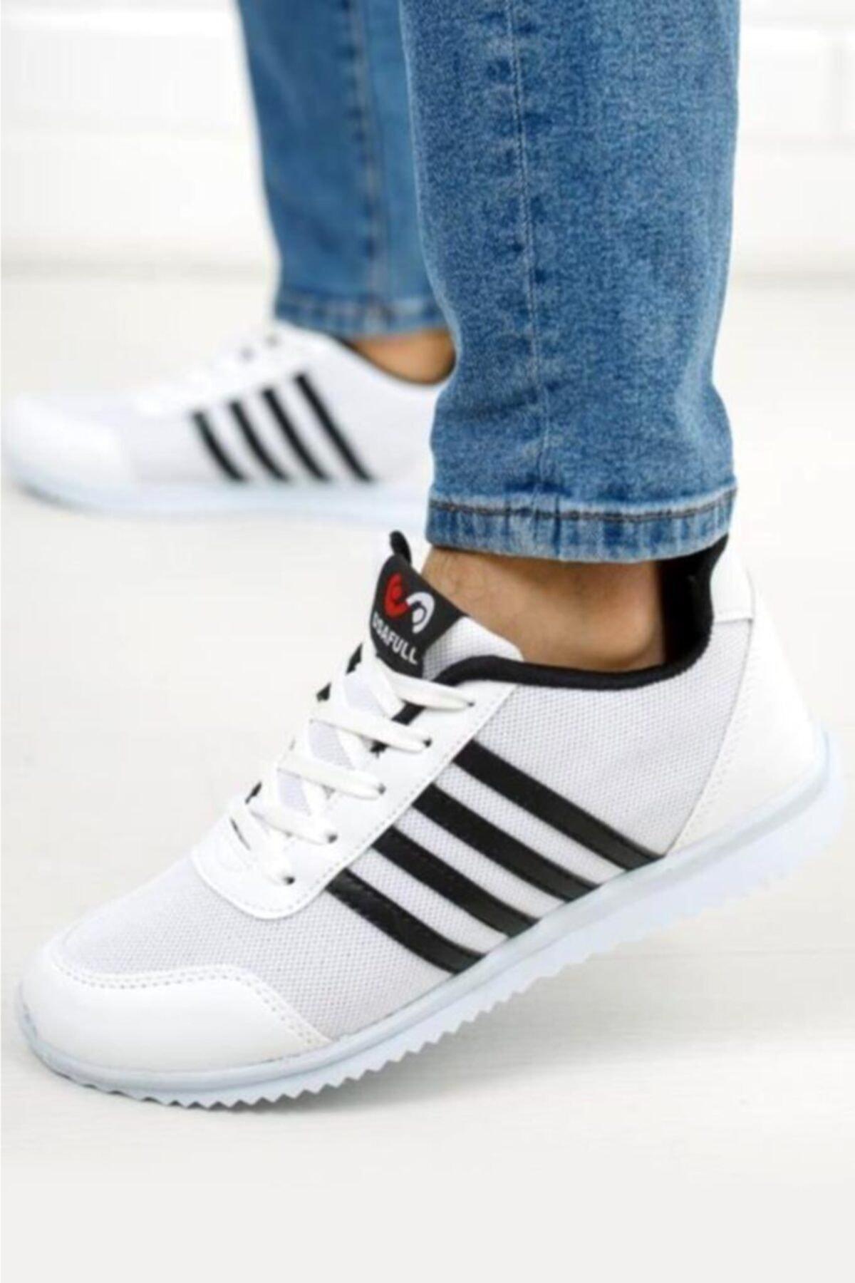 Moda Frato Rc-13 4 Unisex Beyaz Bantlı Spor Ayakkabı 1