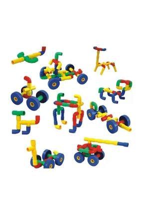 dünya kreş market King Kids Tekerlekli Boru Lego 72 Parça