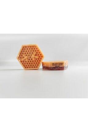 EQMQ STORE KOZMETİK Eşek Sütlü Sabun, Doğal Eşek Sütü Ve Ballı Kabak Lifli Sabun 120 gr
