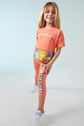 DeFacto Kız Çocuk Pembe Kral Şakir Lisanslı Tayt