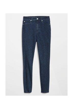 GAP Yüksek Belli Desenli Legging Denim Pantolon