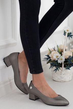 Mammamia Platin Topuklu Kadın Stiletto Ayakkabı • A202ydyl0062