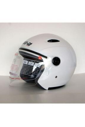 Free-M Beyaz Açık Kask Yarım Kask 601