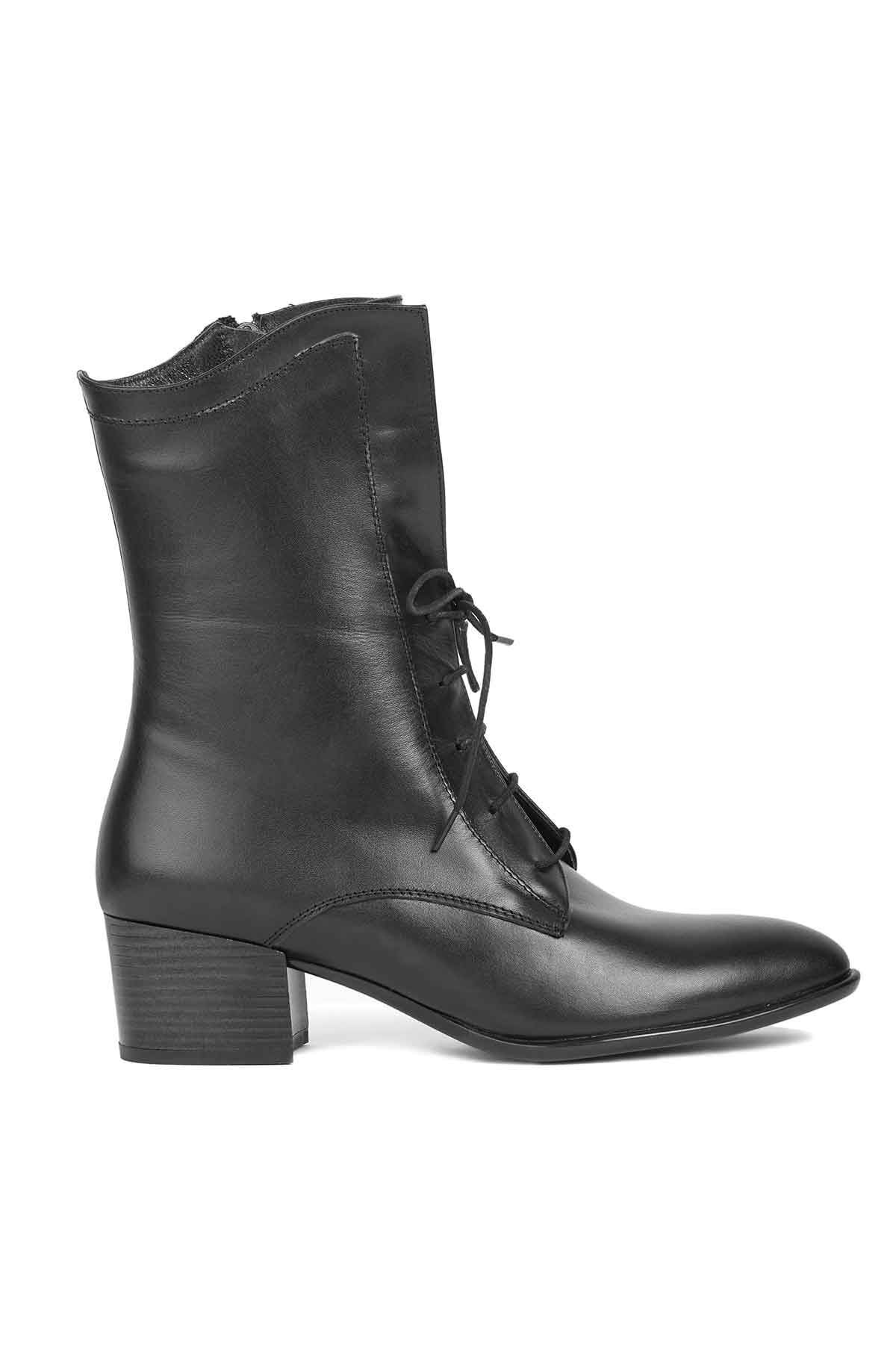 Saracshoes Gerçek Deri Siyah Shoelace 1