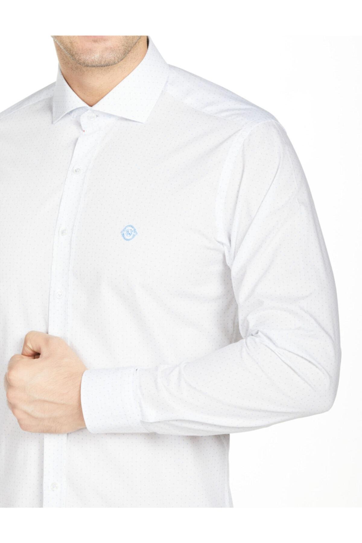 Bisse Uzun Kollu Italyan Yaka Klasik Gömlek 2
