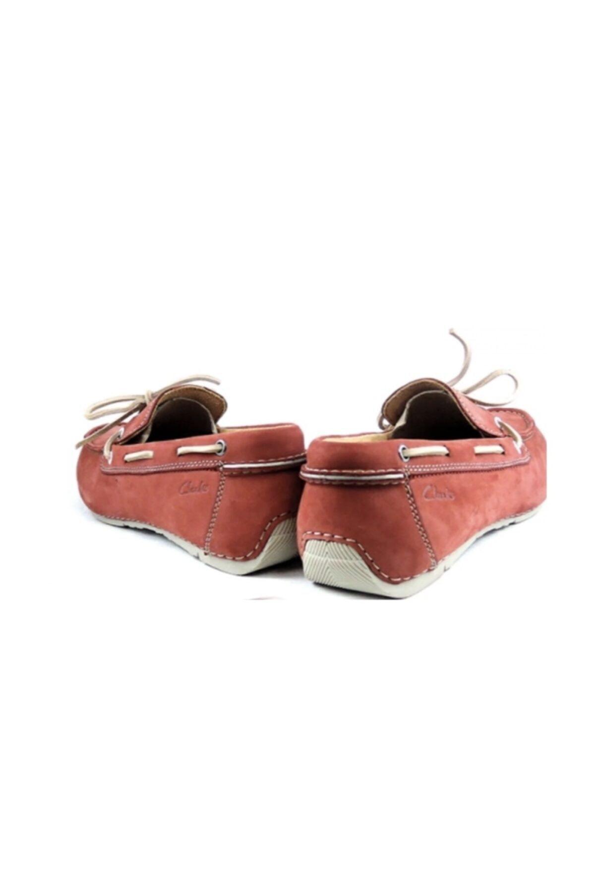 CLARKS Erkek Kırmızı Hakiki Deri Ayakkabı 2