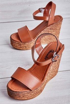 Bambi Taba Kadın Açık Ayakkabı L0522210009