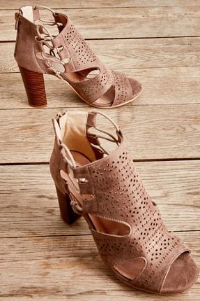 Bambi Vizon Kadın Açık Ayakkabı