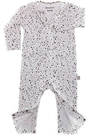 Boumini Bebek Uzun Kollu Çıtçıtlı Tulum Yıldız Tozu