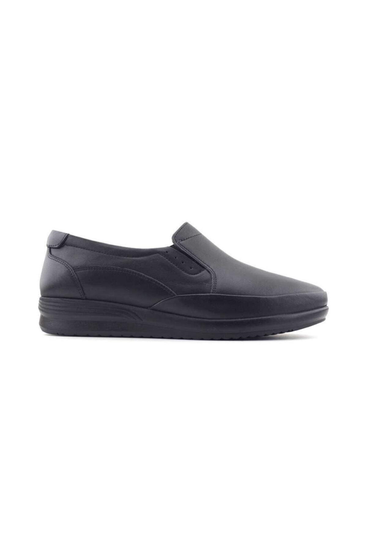 Kayra 04 Hakiki Deri Kadın Günlük Ayakkabı-siyah 1