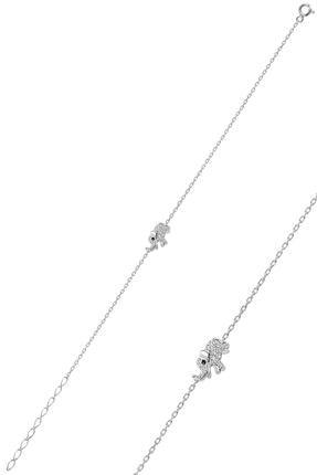 Söğütlü Silver Gümüş Rodyumlu Fil Modeli Bileklik