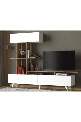 Dekorister Violet Tv Ünitesi Beyaz-ceviz