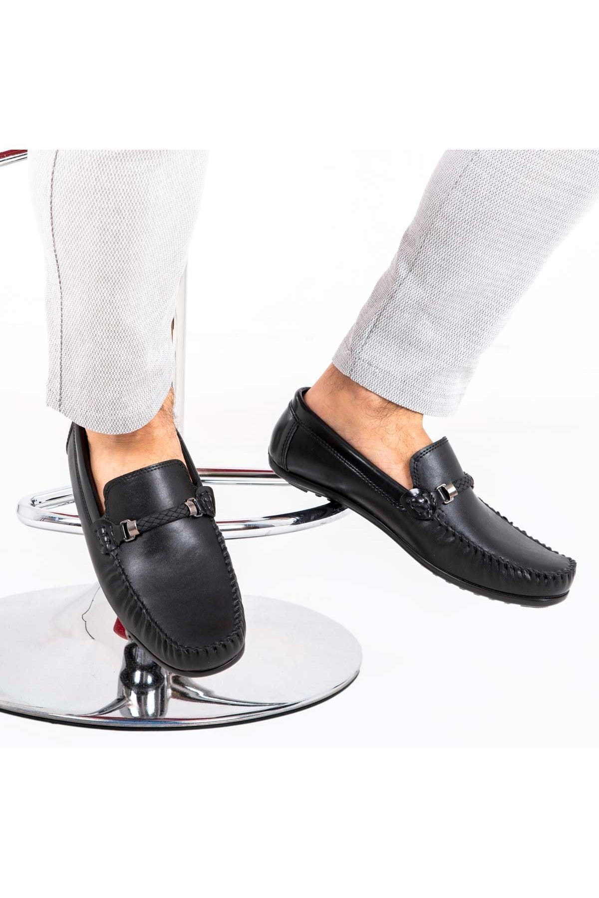 Milano Brava Ortopedik Loafer Erkek Ayakkabı Mln1505 Siyah 1