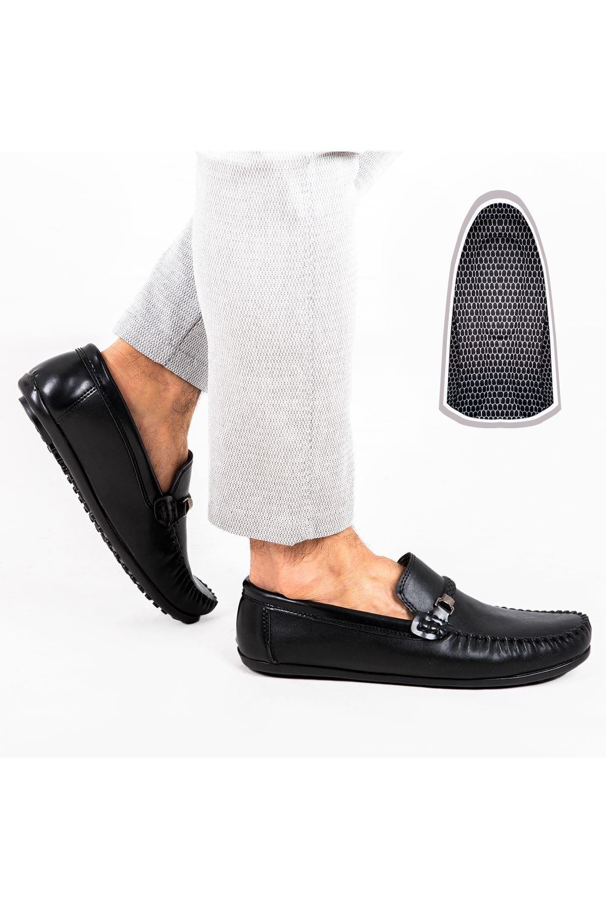 Milano Brava Ortopedik Loafer Erkek Ayakkabı Mln1505 Siyah 2