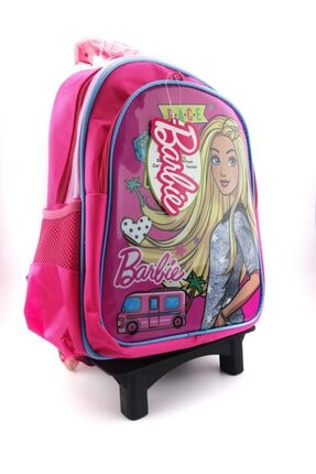 Hakan Çanta Lisanslı Barbie Karakterli Ilkokul Çekçekli Sırt Çantası