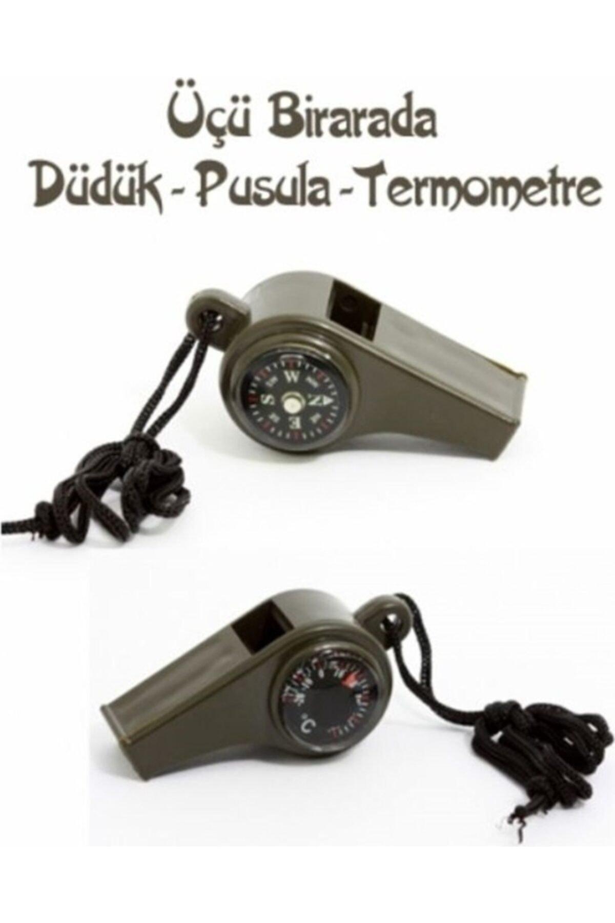 HAMAHA Pusulalı Termometreli Düdük - Survival Askılı Düdük 1