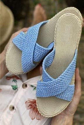 İnan Ayakkabı Bayan Ön Tarafı Çapraz Detay Sandalet