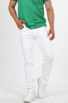 GRAND TİZMO Beyaz Renkli Likralı Kot Pantolon