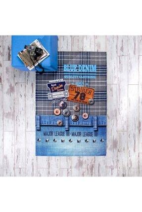 Taç Genç Modası Baskılı Halı Jeans 80x140
