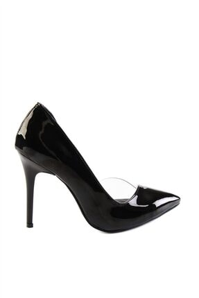 Bambi Siyah Rugan Kadın Klasik Topuklu Ayakkabı H0596177298