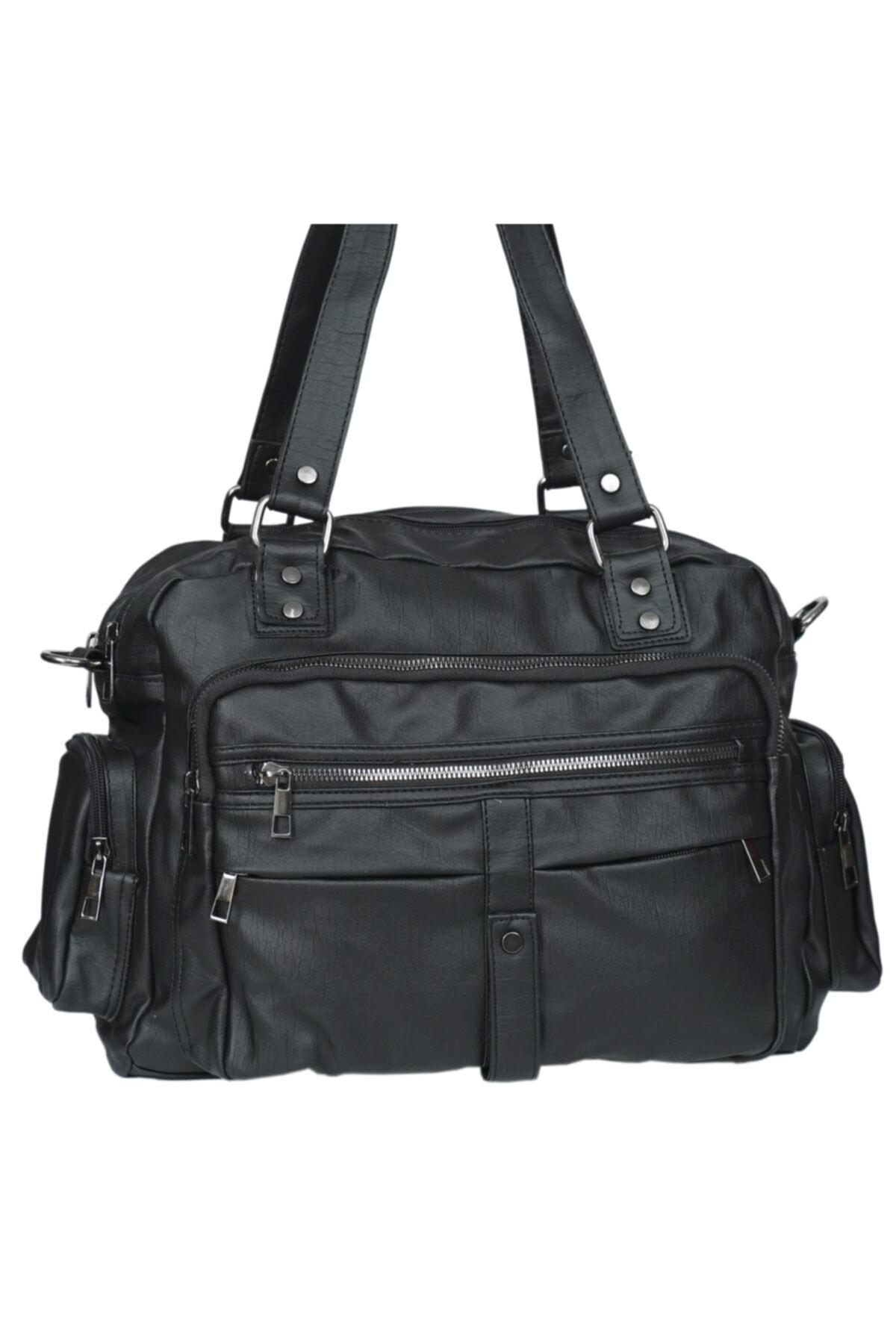 Kurtuluş Çanta - Çok Cepli Bayan Kol Çantası Siyah 2
