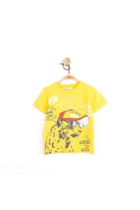 NK Erkek Bebek- Çocuk Aynalı Gözlüklü Köpekli Pamuklu Tshirt