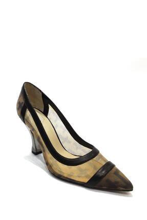 Flower Tekstil Malzemesi Klasik Topuklu Ayakkabı Flw19y-a9178