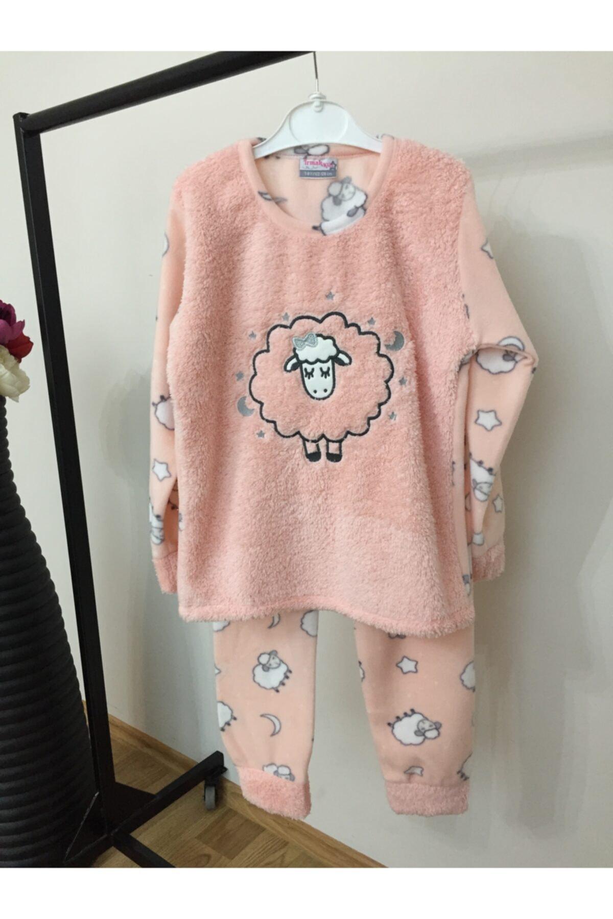 Irmak kids Anne Kız Kombin Polar Pijama Takım 2