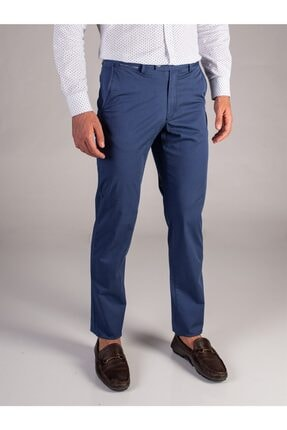 Dufy Indigo Düz Erkek Pantolon - Regular Fıt