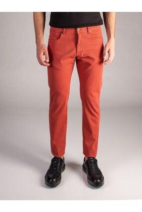 Dufy Nar Çiçeği Melanj Erkek Pantolon - Slimfit
