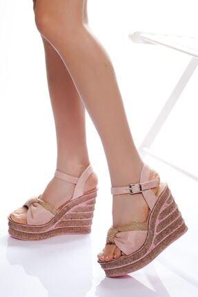 derithy -dolgu Topuklu Ayakkabı-pudra