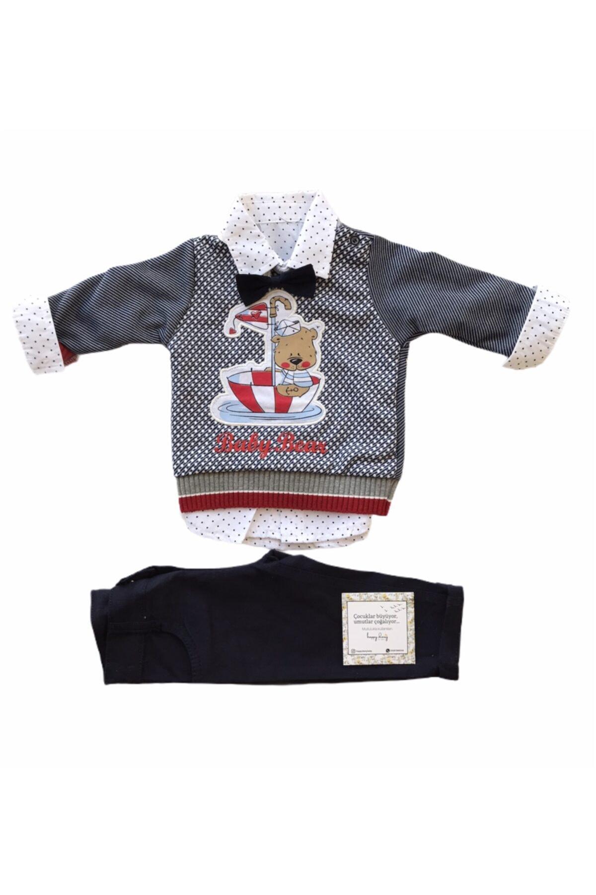 Consept Concept Baby 3lü Gömlekli Papyonlu Erkek Bebek Takım 2