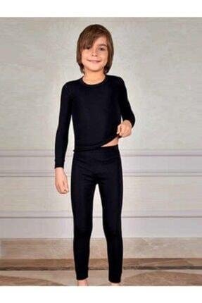 Tutku Erkek Çocuk Termal Alt- Üst Set Takım Siyah